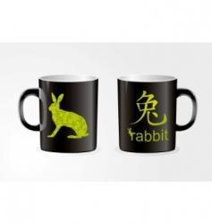rabbit Zodiac symbol vector image vector image