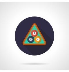 Billiard balls in triangle flat round icon vector image vector image