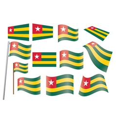 flag of Togo vector image vector image