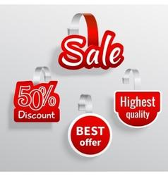 Sale wobbler set vector image vector image