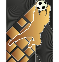 sport poster series soccer vector image