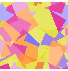 Abstract polygonal yellow and pink seamless vector image
