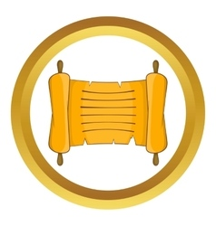 Ancient scroll icon vector image