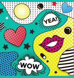 background in pop art style trendy comic vector image vector image