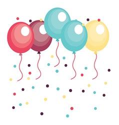 Balloons design vector