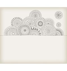 circles doodle vector image