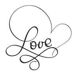 Love word on white background hand drawn vector
