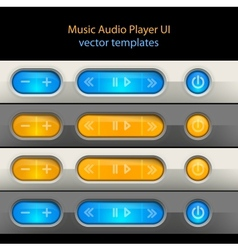 Media player control elements vector image