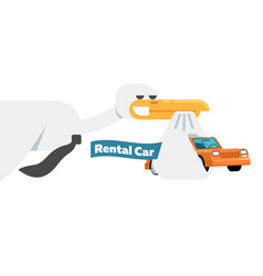 rental business conceptual icon with stork vector image vector image