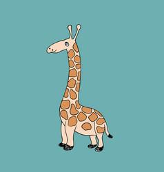 baby giraffe cartoon vector image