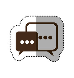 brown square chat bubbles icon vector image vector image
