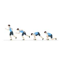 Running Man Step Positions Set vector image