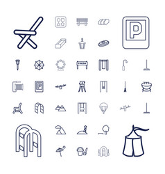 37 outdoor icons vector