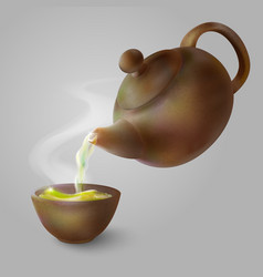 3d of a tea party from the vector