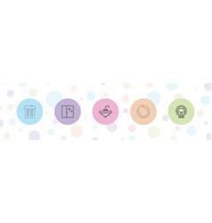 5 indoor icons vector image