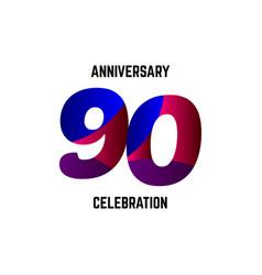 90 year anniversary celebration logo template vector