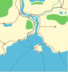 abstract coastal map vector image