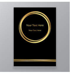 abstract golden black circle luxury elegant vector image