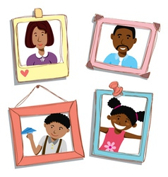 african american family vector image