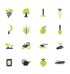 Agricaltural icon set vector