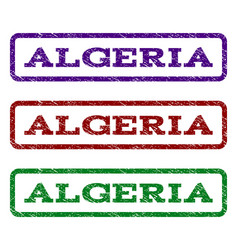 Algeria watermark stamp vector