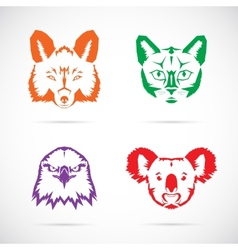 Animal Faces Symbol Set vector image