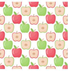 apple seamless pattern flat design vector image