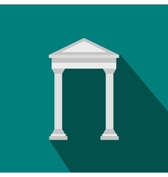 Arch with roof icon flat style vector image