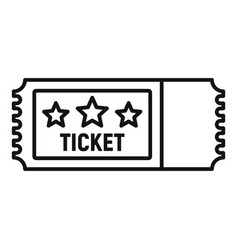 arena ticket icon outline style vector image