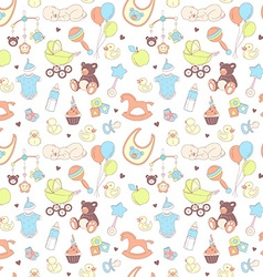 Baby shower seamless pattern texture for girl vector