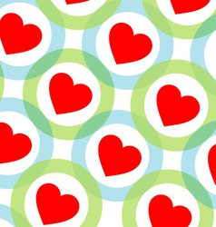 Background with red hearts vector image