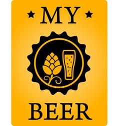 beer sticker vector image