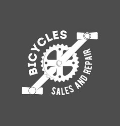 bicycle retro badge vector image
