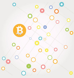 Bitcoin money with circles vector