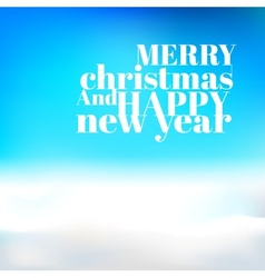 Blue christmas background with text vector image