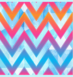 bright zigzag geometric pattern vector image