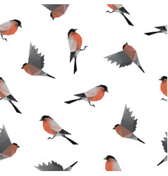 bullfinch triangle shape seamless pattern vector image
