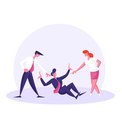 Bulling aggression or conflict situation at work vector