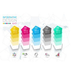 business step options and abstract infographics vector image