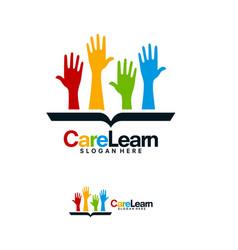 Care education logo designs help learn logo vector