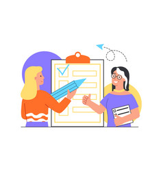 Checklist with tasks concept vector