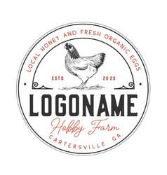 chicken farms logo design template vector image
