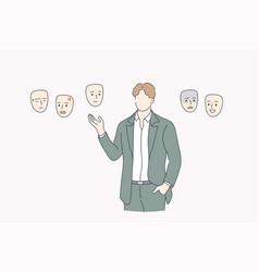 choosing mood self identity concept vector image