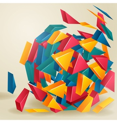 Color 3d triangles Background vector
