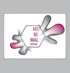 cool gradient shape futuristic design 3d flower vector image