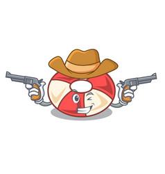 Cowboy swim tube character cartoon vector