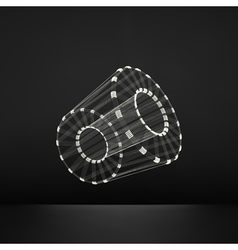 Cylinder Detail of the Mechanism 3D Geometric vector