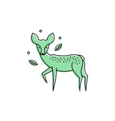 Deer logo isolated on white vector image