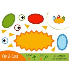education paper game for children nest vector image
