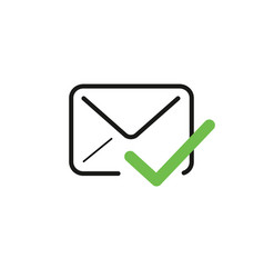 Email envelope with a check mark symbol stock vector